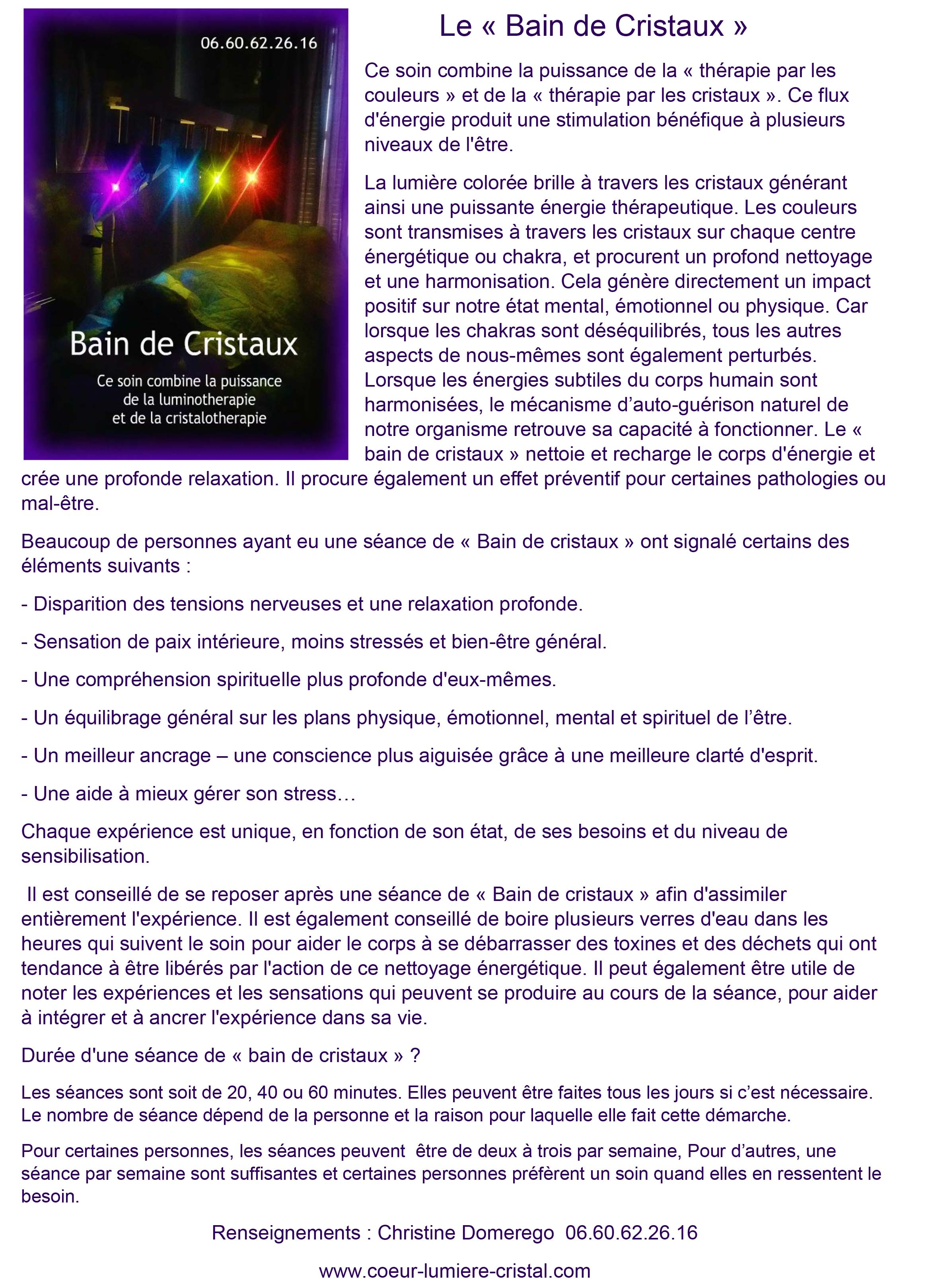 Le bain de cristaux explications
